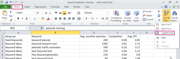 sort_keyword_data_excel