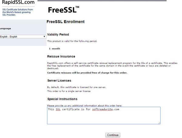 FreeSSL-Enrollment