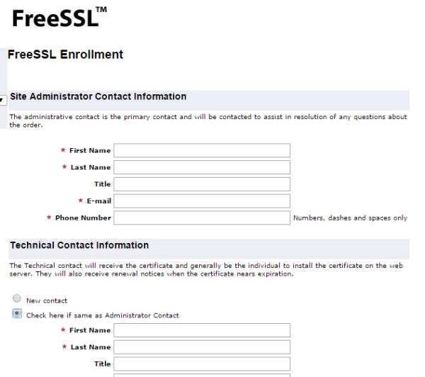 FreeSSL-Enrollment-contact-info