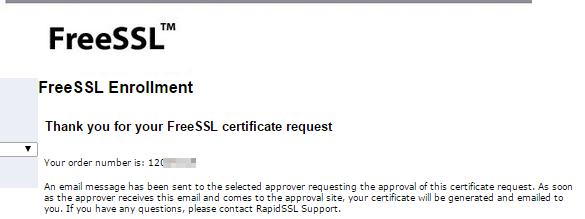 FreeSSL Enrollment csr request