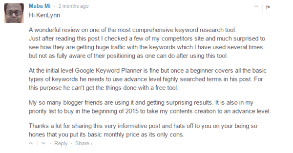 Comments about SEMrush usefulness
