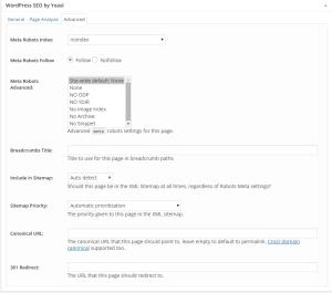Advanced features in Yoast SEO plugin