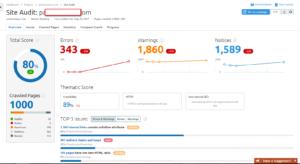 How to do SITE audit using semrush