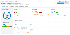 How to do siteaudit using semrush