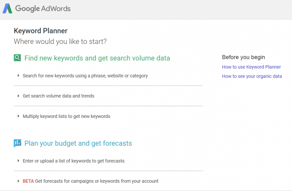 """How to use Keyword Planner for SEO in the """"Old"""" Way [Works in 2019] 3"""
