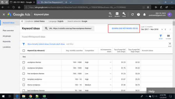 Google Keyword Planner Free - How to Get Search Volume and Keyword Data 16