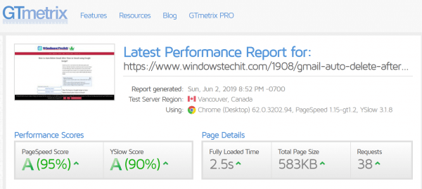 WP Rocket Review : A Grade Score in GTMetrix, Pingdom and PageSpeed Insights 7