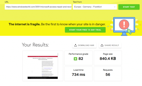 WP Rocket Review : A Grade Score in GTMetrix, Pingdom and PageSpeed Insights 3