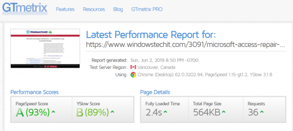 WP Rocket Review : A Grade Score in GTMetrix, Pingdom and PageSpeed Insights 6
