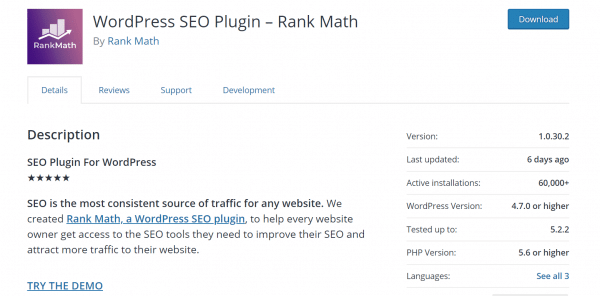 Rank Math Review - SEO Settings   Modules   Features Available 1