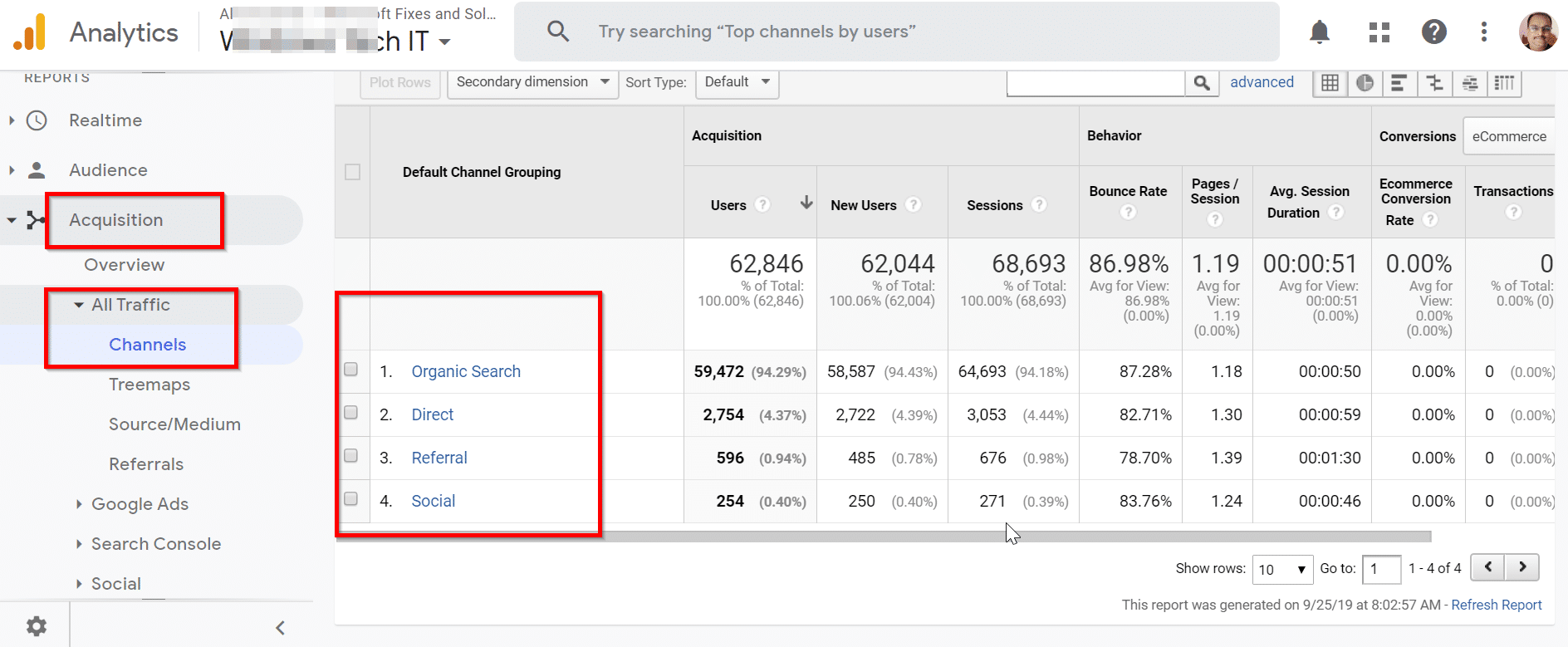 How to View Organic Traffic Data in Google Analytics