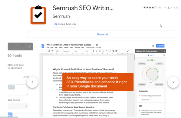 SEMRUSH SEO Writing Assistant - How to Write Perfect Content 5